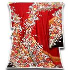 [和楽屋] ◆「贅沢な絞り」 染め分け 金駒刺繍 金通し加工 振袖◆