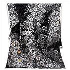 [和楽屋]◆豪華な絞り風 日本の絹 丹後ちりめん 金駒刺繍 振袖◆