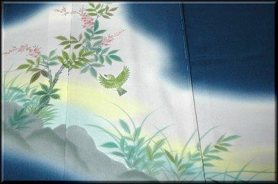 画像2: ■手縫い仕立て付き ぬれ描友禅作家 「高檀元」作 訪問着■
