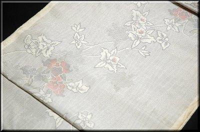 画像2: (訳ありアウトレット品)■「本場大島紬」 白 花柄 5マルキ 紬■