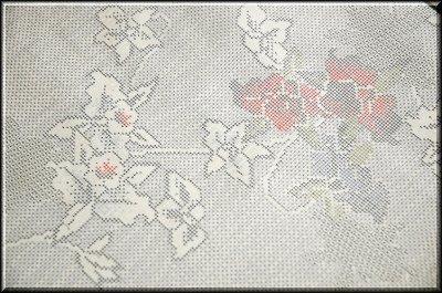 画像3: (訳ありアウトレット品)■「本場大島紬」 白 花柄 5マルキ 紬■