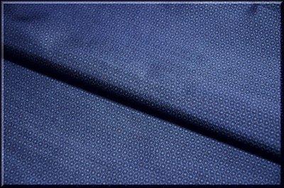 画像1: ■男物 大島紬 亀甲柄 光沢感のある濃紺色 着物羽織 疋物 アンサンブル■