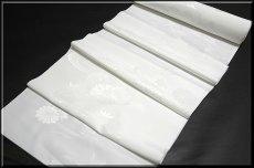 画像2: ■洗える着物 ポリエステル 菊梅に流水柄 白地 礼装用 長襦袢■ (2)