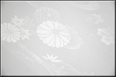 画像3: ■洗える着物 ポリエステル 菊梅に流水柄 白地 礼装用 長襦袢■