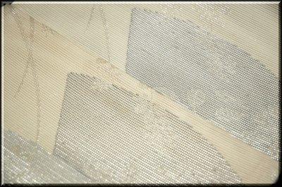 画像3: (訳ありアウトレット品)■「扇面に銀糸」 正絹 夏物 絽 袋帯■