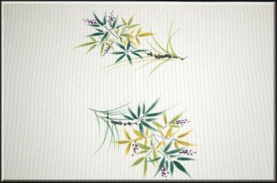 画像2: ■「落款入り」手描き 絽ちりめん 白地 太鼓柄 夏物 名古屋帯■