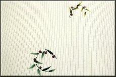 画像4: ■「竹トンボに男の子」 可愛い 夏物 絽ちりめん 落款入り 名古屋帯■ (4)