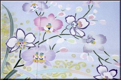 画像3: ■手縫い仕立て付き! 本加賀友禅 「奥泉可愛」作 【辻ヶ花 蘭】 訪問着■