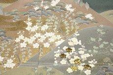 画像4: ■手縫いお仕立て付き 松竹梅 金駒刺繍入り 浜ちりめん 色留袖■ (4)