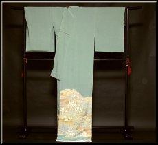画像2: ■手縫いお仕立て付き 松竹梅 金駒刺繍入り 浜ちりめん 色留袖■ (2)