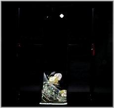 画像5: ■手縫いお仕立て付き 縫い取り 金駒刺繍 金彩加工 黒留袖■ (5)