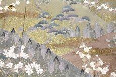 画像5: ■手縫いお仕立て付き 松竹梅 金駒刺繍入り 浜ちりめん 色留袖■ (5)