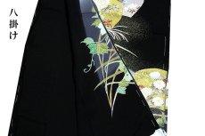 画像2: ■手縫いお仕立て付き 縫い取り 金駒刺繍 金彩加工 黒留袖■ (2)