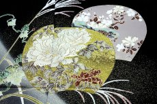 画像3: ■手縫いお仕立て付き 縫い取り 金駒刺繍 金彩加工 黒留袖■ (3)