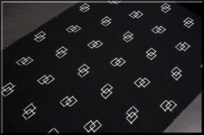 画像3: ■「遊彩夏絣」 伝統 手織工芸絣 黒色 夏物 正絹 紬■