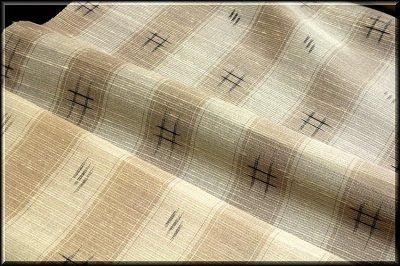 画像3: ■素朴な ベージュに薄茶色 夏物 正絹 紬■