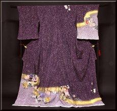 画像1: ■手縫い仕立て付き  粋で豪華なタタキ染め 染色作家「佐藤修平」作 訪問着■ (1)