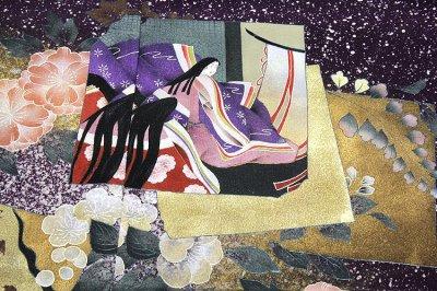 画像2: ■手縫い仕立て付き  粋で豪華なタタキ染め 染色作家「佐藤修平」作 訪問着■
