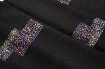 画像2: ■手縫い仕立て付き 「美紀大島」 古代染色純泥染 本場奄美大島紬 9マルキ 紬■