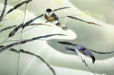 画像3: ■老舗「大塚謹製」 手描き 鳥柄 作家物 落款 正絹 訪問着■ (3)