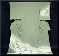 画像1: ■老舗「大塚謹製」 手描き 鳥柄 作家物 落款 正絹 訪問着■ (1)