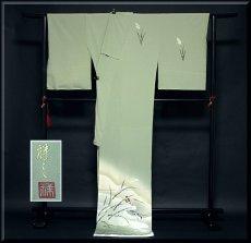 画像2: ■老舗「大塚謹製」 手描き 鳥柄 作家物 落款 正絹 訪問着■ (2)