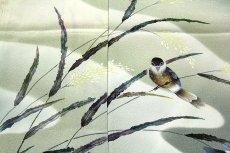 画像4: ■老舗「大塚謹製」 手描き 鳥柄 作家物 落款 正絹 訪問着■ (4)