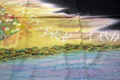 画像1: ■(訳ありアウトレット品)■ぬれ描友禅作家 「由井栄泉」作 正絹 訪問着■