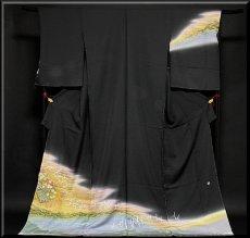 画像1: ■(訳ありアウトレット品)■ぬれ描友禅作家 「由井栄泉」作 正絹 訪問着■ (1)