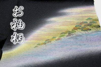 画像2: ■(訳ありアウトレット品)■ぬれ描友禅作家 「由井栄泉」作 正絹 訪問着■