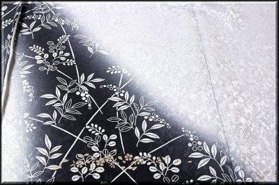 画像3: ■濃淡ボカシ 金彩銀彩加工 地紋 粋で豪華な 訪問着■