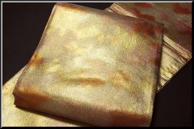 画像2: ■華やか 無地ボカシ フォーマルにも 仕立て上がり 全通柄 袋帯■