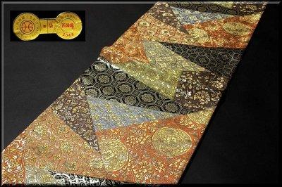 画像1: ■京都西陣織「橋本清織物」謹製 瑞祥錦 黒地 豪華絢爛 袋帯■