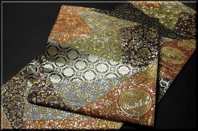 画像2: ■京都西陣織「橋本清織物」謹製 瑞祥錦 黒地 豪華絢爛 袋帯■