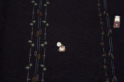 画像2: ■京の名工「二代目 川村久太郎」作 刺繍入り 丹後ちりめん 訪問着■