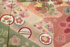 画像5: ■「京友禅 松井青々」作 たたき染め 染め分けボカシ 金駒刺繍 手刺繍 絶品 最高級 訪問着■ (5)