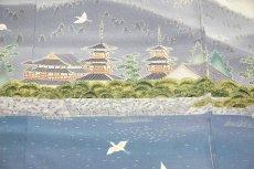 画像4: ■本加賀友禅 「星野高志」作 天平の里 浜ちりめん 最高級 色留袖■ (4)