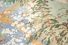 画像4: ■本加賀友禅 「山村均」作 保津川下り 浜ちりめん 最高級 色留袖■ (4)