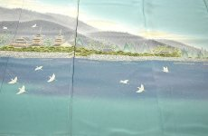 画像3: ■本加賀友禅 「星野高志」作 天平の里 浜ちりめん 最高級 色留袖■ (3)