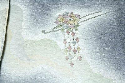 画像2: ■「摺工房 渡邊孝」作 落款 日本の絹 丹後ちりめん 訪問着■