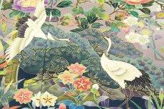 画像4: ■手縫い仕立て付き 「最高級浜ちりめん-四季の花」 松竹梅 作家物 落款入り 黒留袖■ (4)