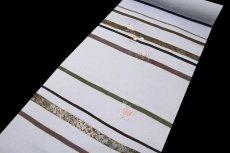 画像2: (訳ありアウトレット品)■刺繍入り 金彩加工 井藤正製 丹後ちりめん 付下げ■ (2)