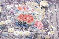 画像5: ■雪輪に金駒刺繍 たたき染め 粋な 訪問着■ (5)