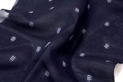画像3: ■「遊彩夏絣」 伝統 手織工芸絣 濃紺色系 夏物 正絹 紬■
