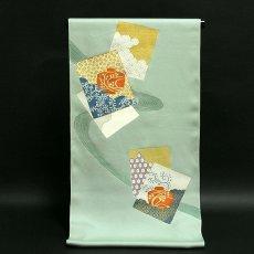 画像1: (訳ありアウトレット品)■「贅沢な金駒刺繍」 本染め 正絹 付下げ■ (1)