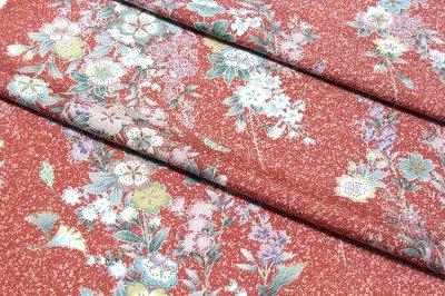 画像2: ■タタキ染め 見事な花模様 オシャレ 正絹 小紋■