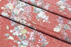 画像3: ■タタキ染め 見事な花模様 オシャレ 正絹 小紋■ (3)