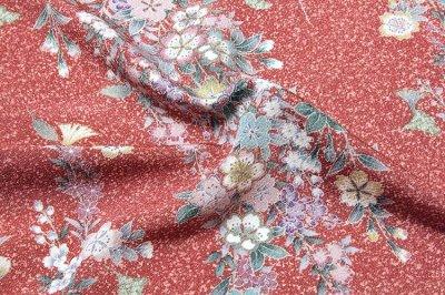 画像3: ■タタキ染め 見事な花模様 オシャレ 正絹 小紋■