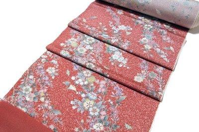 画像1: ■タタキ染め 見事な花模様 オシャレ 正絹 小紋■