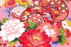 画像2: ■【最高級】 花模様 ボカシ 鼓 女児 七五三 お宮参り 正絹 祝着物■ (2)